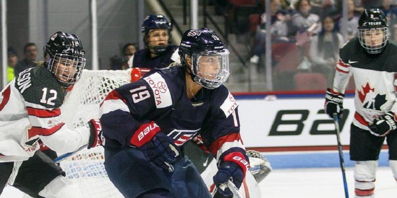 Kanada och USA:s damlandslag i ishockey