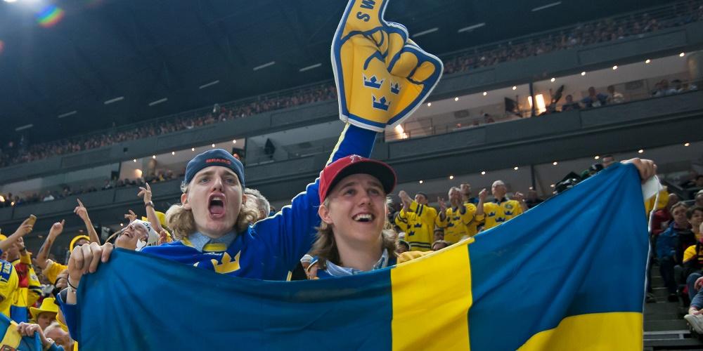 Svenska fans under hockey VM