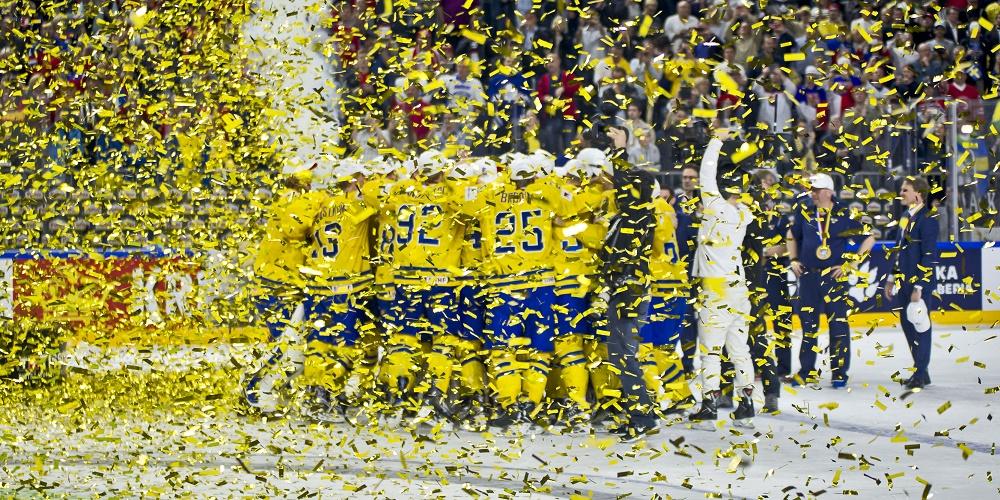 Sverige firar VM guldet