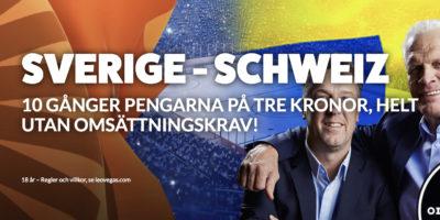 SVERIGE - SCHWEIZ kampanj