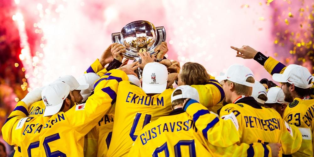 Tre Kronor firar VM gulder 2018