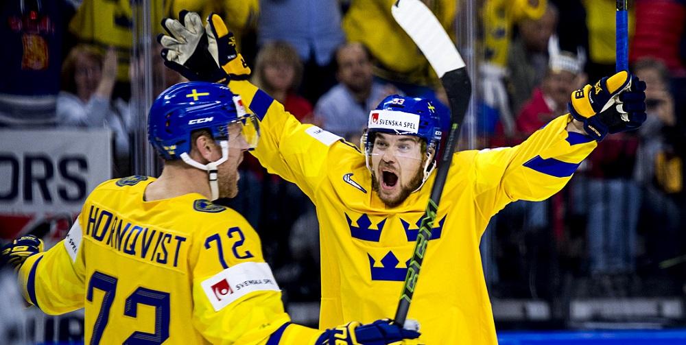 Sverige firar mål