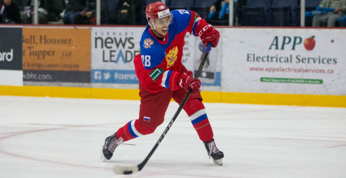 Grigori Denisenko, forward från Ryssland