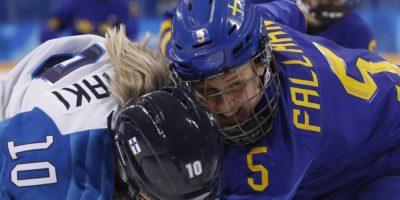 Dam hockey VM Sverige Finland