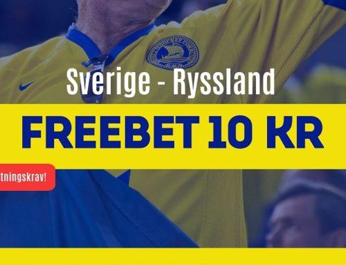 SPELTIPS 21/5: Sverige-Ryssland – Freebet
