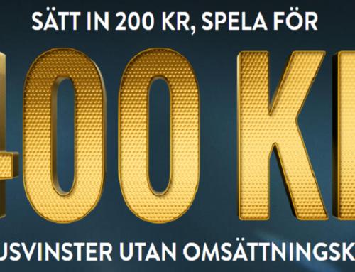 No Account Bet – SÄTT IN 200 KR & SPELA MED 400 KR