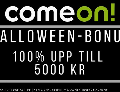 Välkomstbonus hos ComeOn – 100% bonus upp till 5000 kr