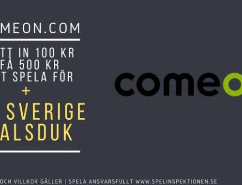 ComeOn – Få en Sverige halsduk utöver vanliga välkomsterbjudandet