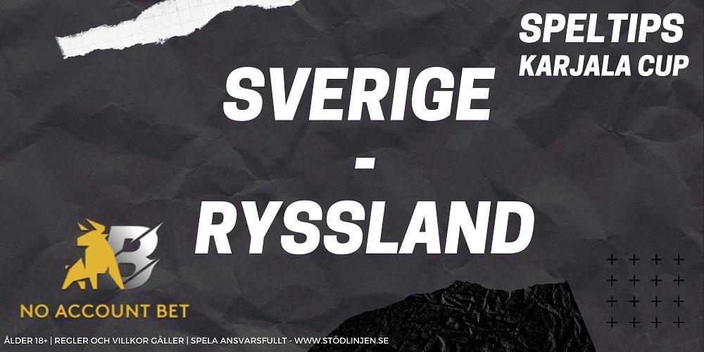 Speltips Sverige-Ryssland No Account Bet