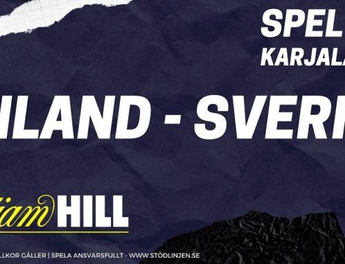 SPELTIPS 10/11: Finland – Sverige | Karjala Cup