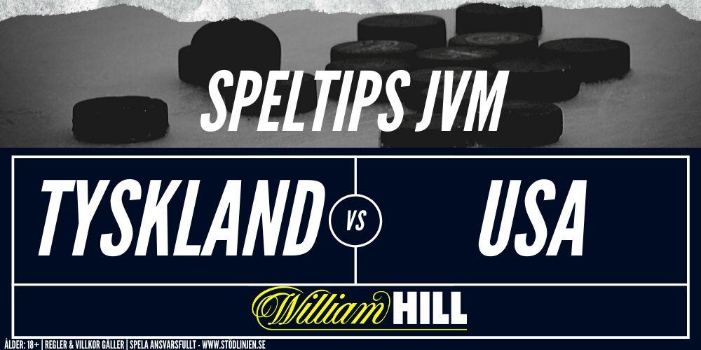 Speltips Tyskland-USA William Hill