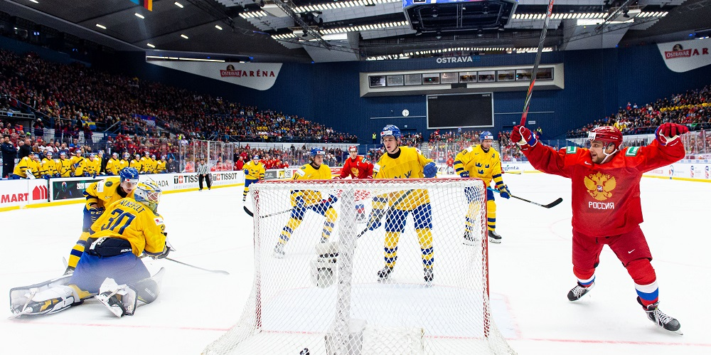 Sverige-Ryssland i semifinalen under JVM 2020