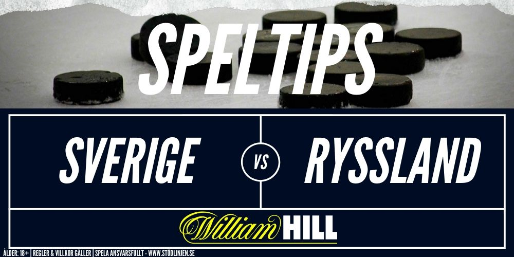 Speltips Sverige-Ryssland William Hill