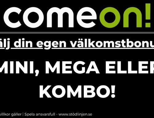 Välj din välkomstbonus hos ComeOn