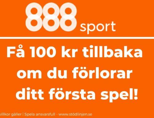 Välkomstbonus 888sport – Få 100 kr tillbaka på ditt första spel
