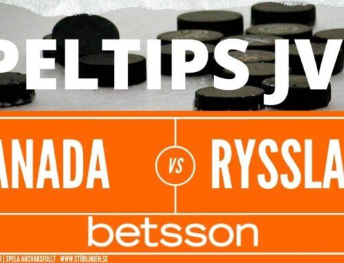 Speltips 05/01 | JVM | Kanada – Ryssland
