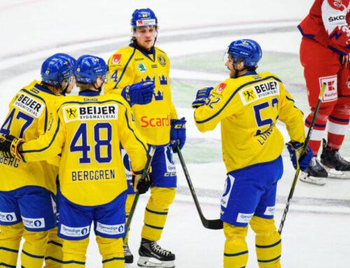 Sverige vann premiären mot Tjeckien i Beijer Hockey Games efter förlängning