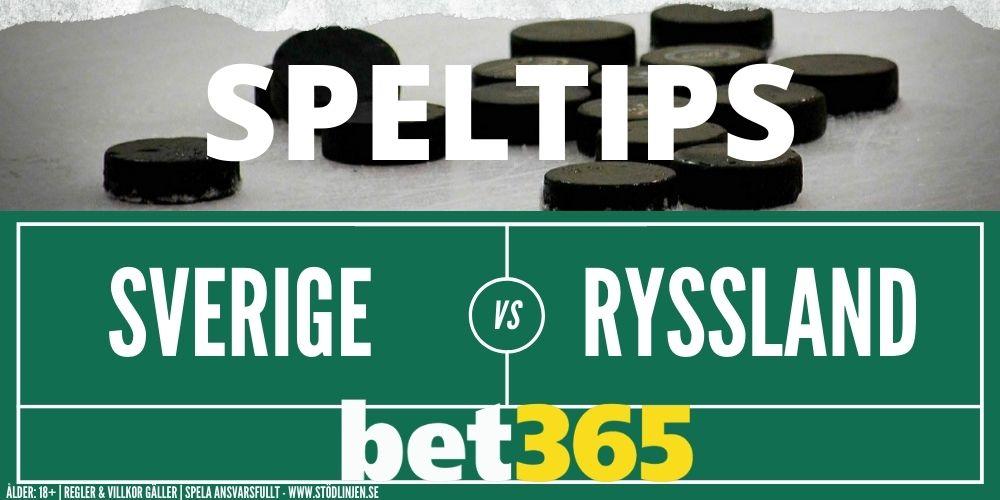 Speltips Bet365 Sverige Ryssland