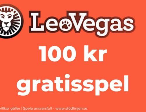 Välkomstbonus Leo Vegas – 100 kr gratisspel